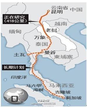 中泰铁路路线图
