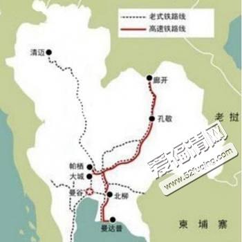 中泰铁路路线图 5月开工每年为泰国增加200万游客