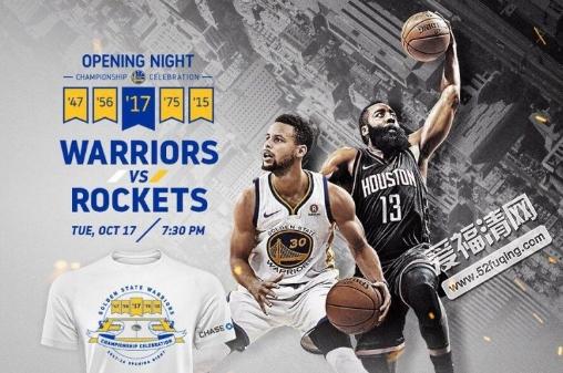 2017年10月18日NBA常规赛火箭vs勇士录像视频 揭幕战勇士vs火箭全场回放