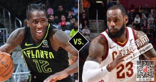 2018年2月10日NBA骑士vs老鹰录像视频回放 詹姆斯三双骑士123-107大胜老鹰