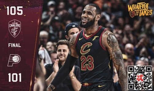 2018年4月30日NBA季后赛骑士vs步行者录像视频回放 骑士4-3淘汰步行者