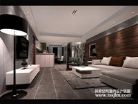 平潭世界城套房设计案例 黑白相见以暗色为主题 独有艺术气息