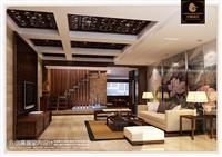 【福清装修案例|元创设计】福清丽景东方复式套房设中式计案例