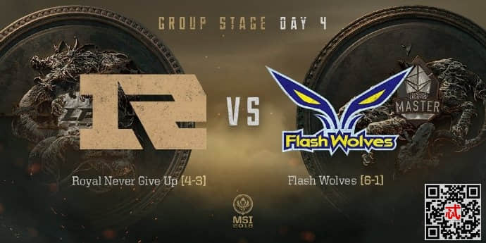 2018年5月14日MSI小组赛RNGvsFW完整视频录像回放 RNG战胜FW