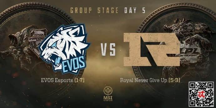 2018年5月15日MSI小组赛EVSvsRNG完整视频录像回放 RNG战胜EVS晋级四强