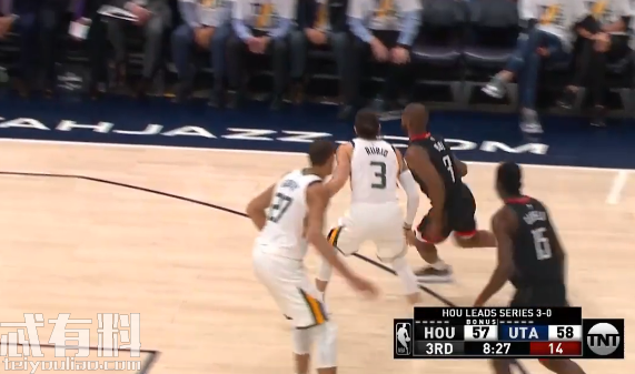 2019年4月23日NBA季后赛火箭vs爵士录像视频回放 爵士107 91击败火箭